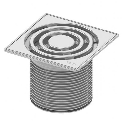 TECE drainpoint S grate frame stainless steel incl. designer grate L: 14.2 W: 14.2 cm