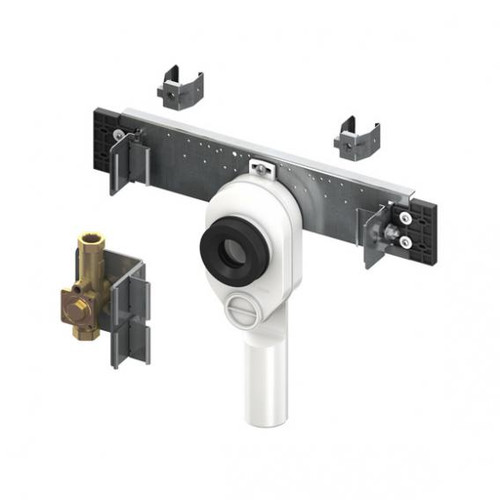 TECE profil connection unit for urinal Kermag Joly and Visit with TECE flush valve housing