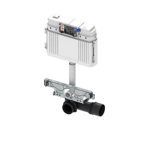 TECE profil wall-mounted toilet connection unit H: 135 cm, with TECE cistern, front actuation