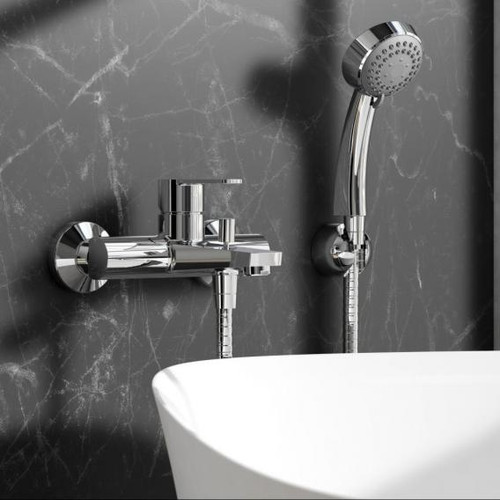 treos Series 191 shower assembly with wall bracket 191.01.1650