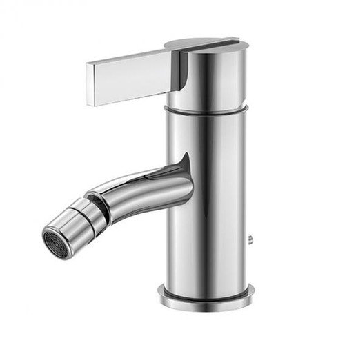 treos series 195 single lever bidet fitting with pop-up waste set