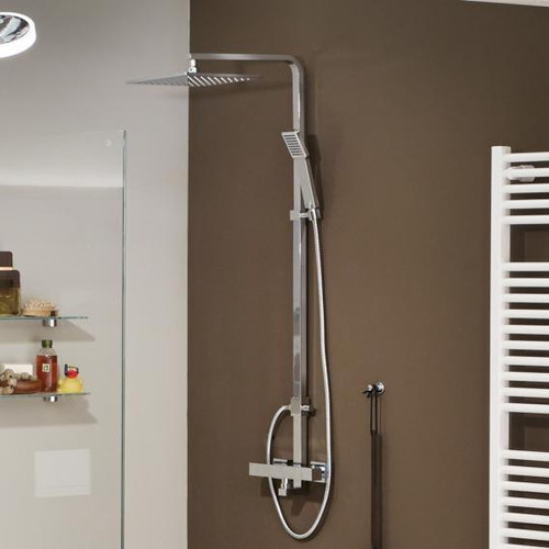 treos Series 178 thermostatic shower system with overhead shower 178.01.2723