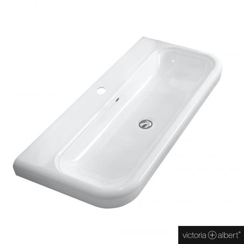 Victoria + Albert Lario 100 Solo drop-in washbasin white, with 1 tap hole