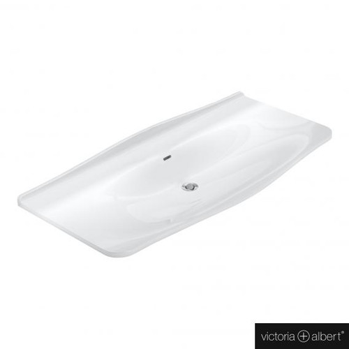 Victoria + Albert Mandello 114 Solo drop-in washbasin white, without tap hole