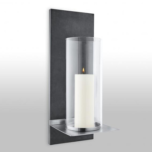 Blomus FINCA wall-mounted candle holder with candle