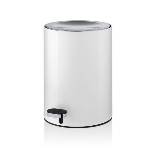 Blomus MUTO waste bin polished stainless steel/white 68952