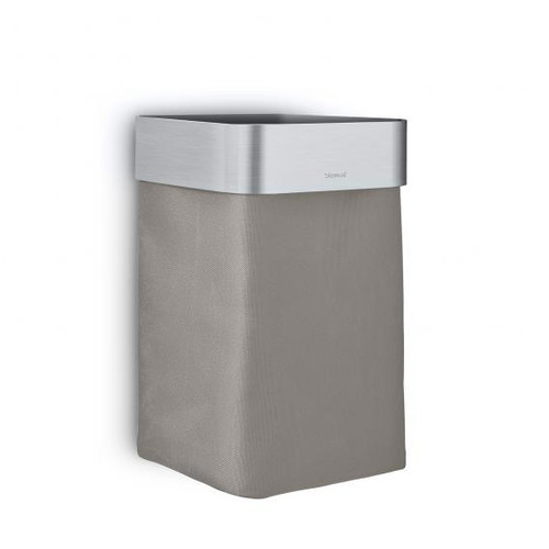 Blomus NEXIO guest towel basket brushed stainless steel/taupe 68977