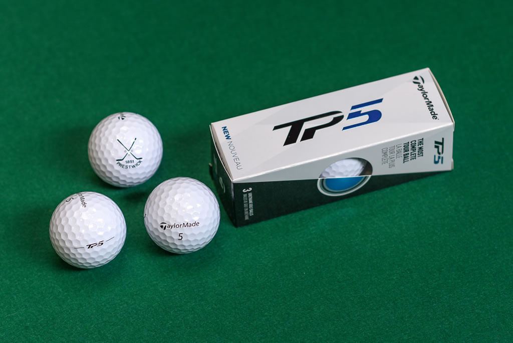 Prestwick Logo TaylorMade TP5 golf balls(pack of 3)