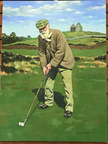 """Old Tom Morris"" Original oil painting by Craig Campbell"