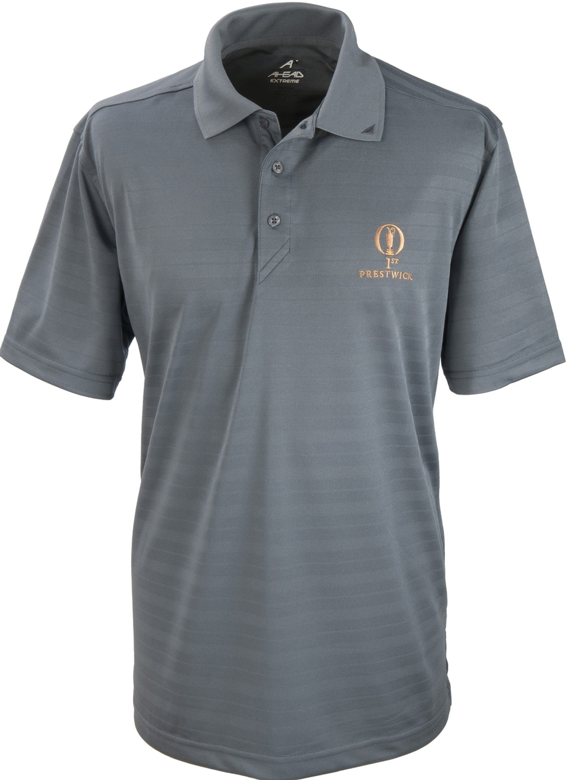 Prestwick Collection Ahead Mens Plain Polo - Steel