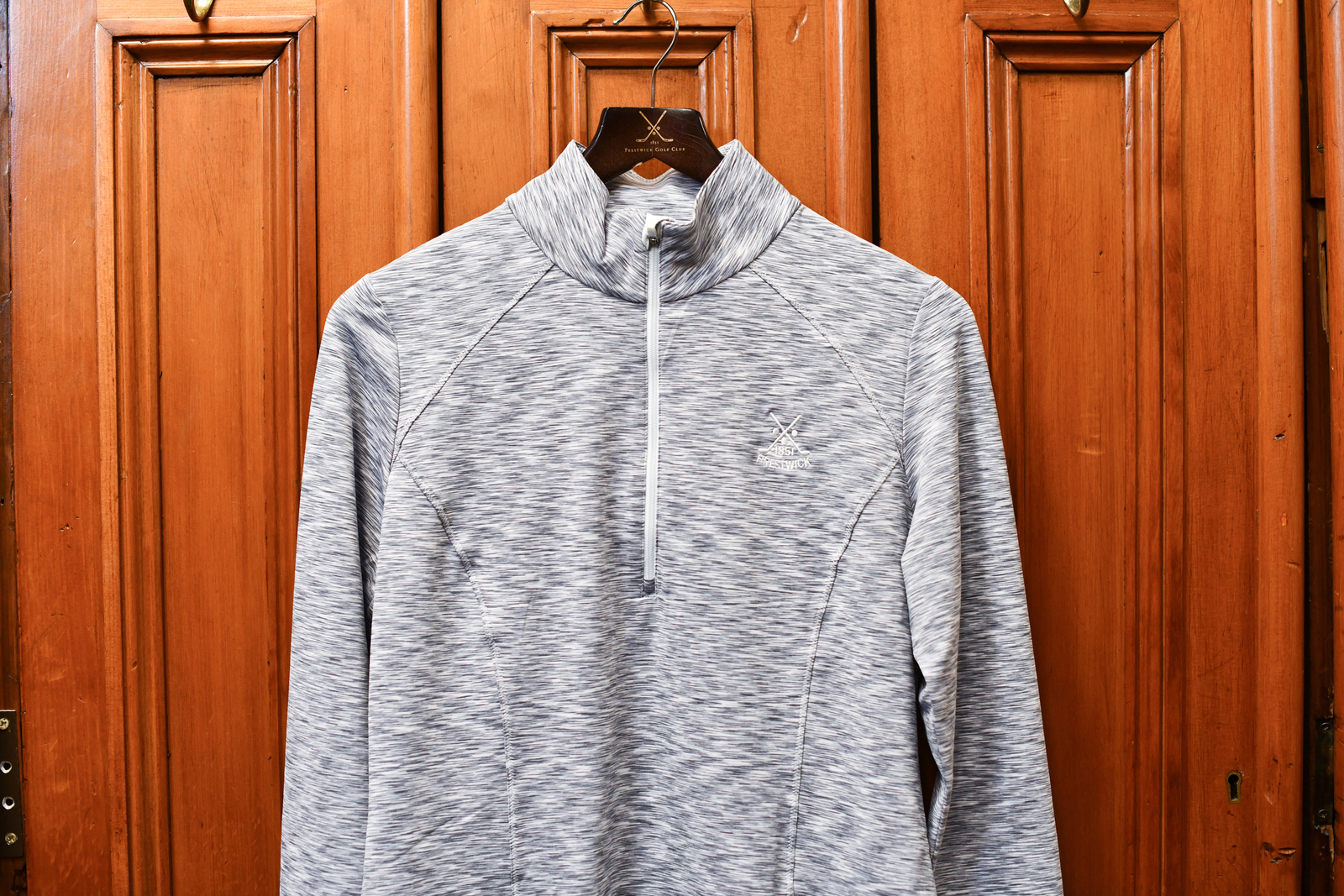 Zero Restriction Shae Zip Mock - Grey