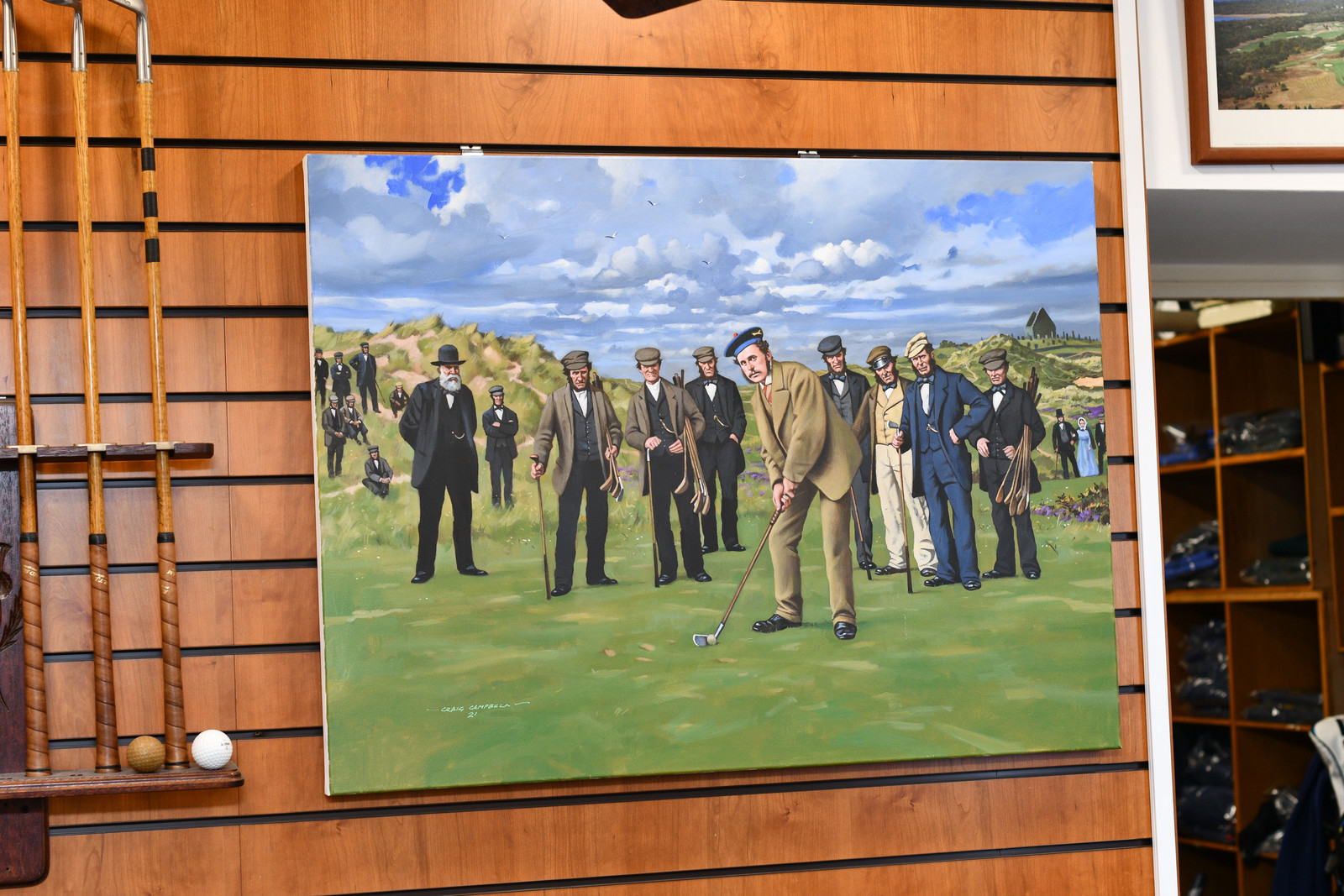Young Tom Morris Original Oil Painting by Craig Campbell
