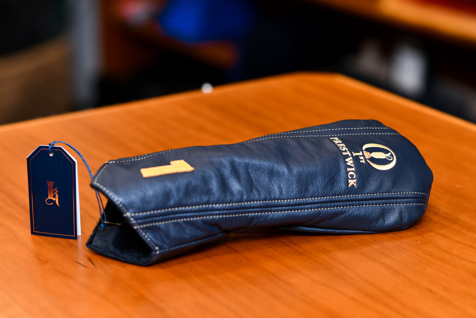 Links and Kings Leather Driver Headcover (1st Prestwick)