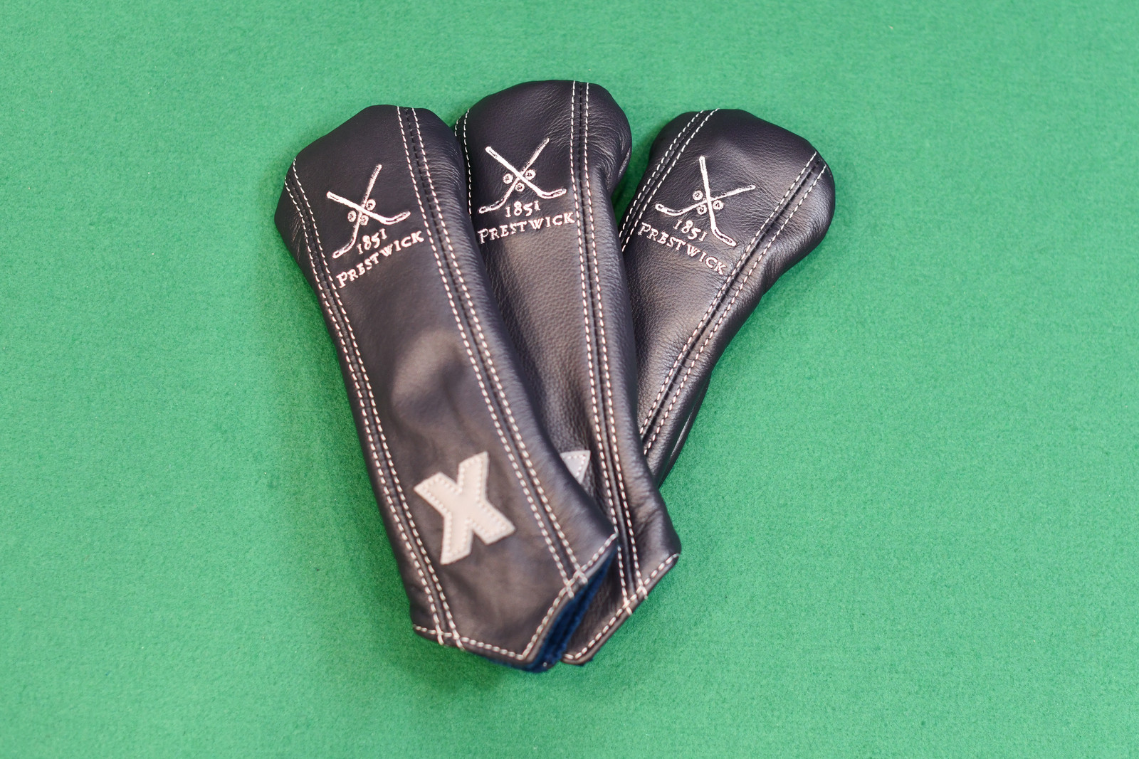 Prestwick Leather Rescue Headcover - Navy/Silver
