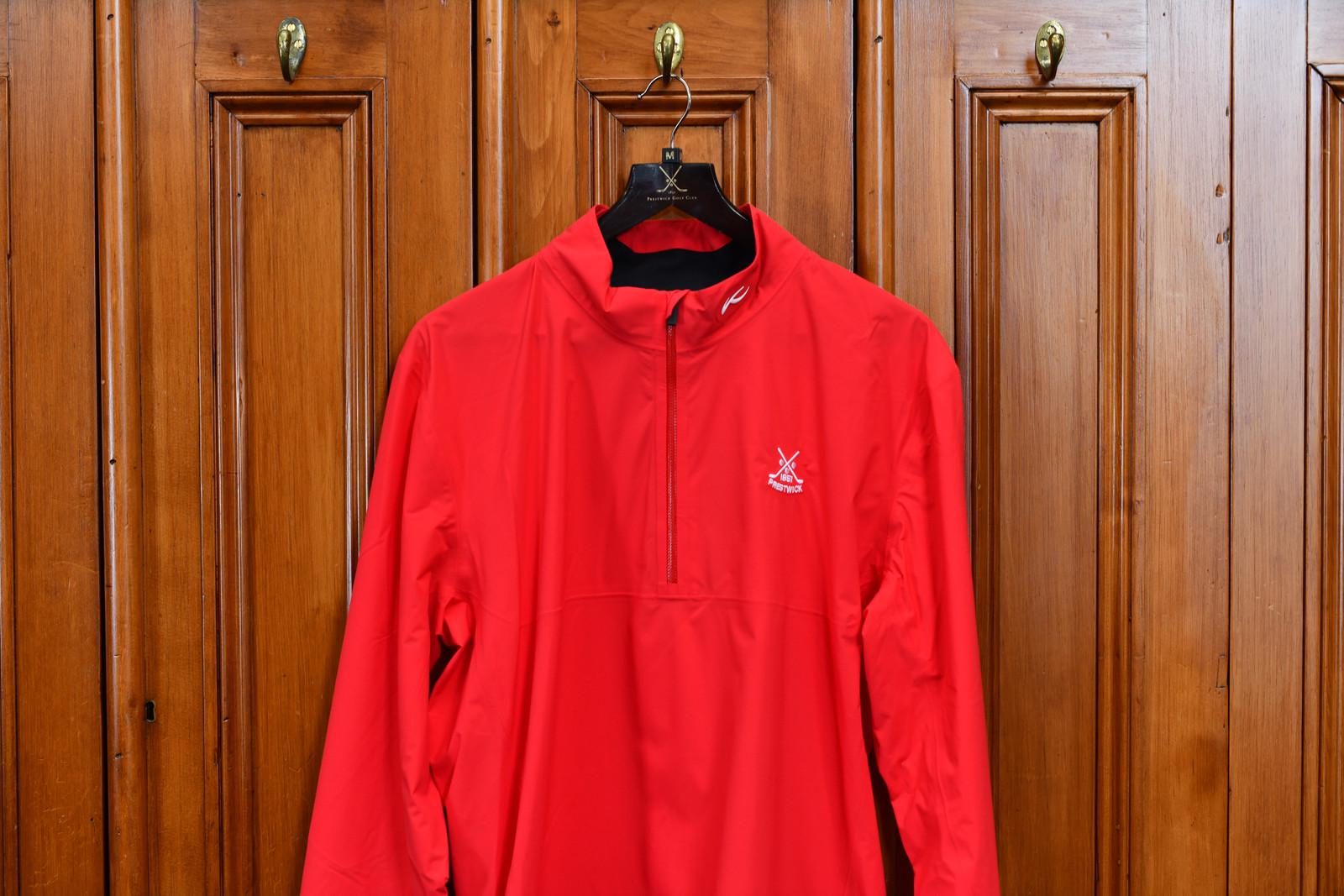 Kjus Dexter 2.5 Waterproof Jacket - Jungle Red (1/2 Zip)