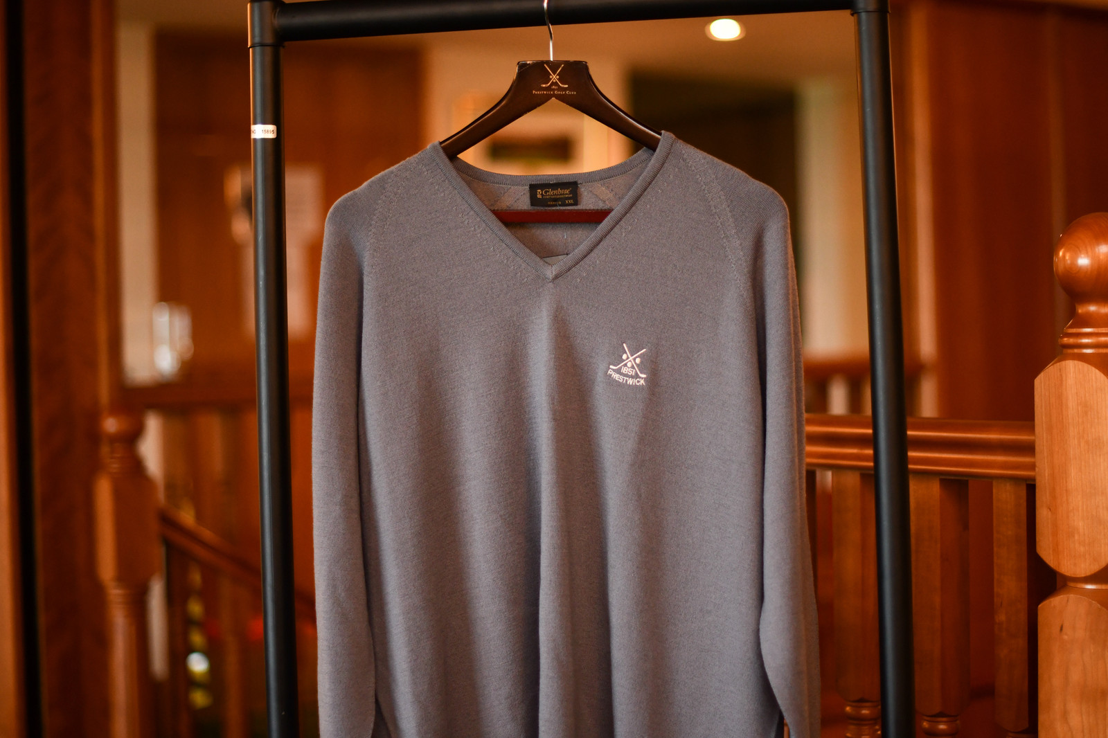 Glenbrae Merino V-Neck Sweater - Grey (40% OFF)