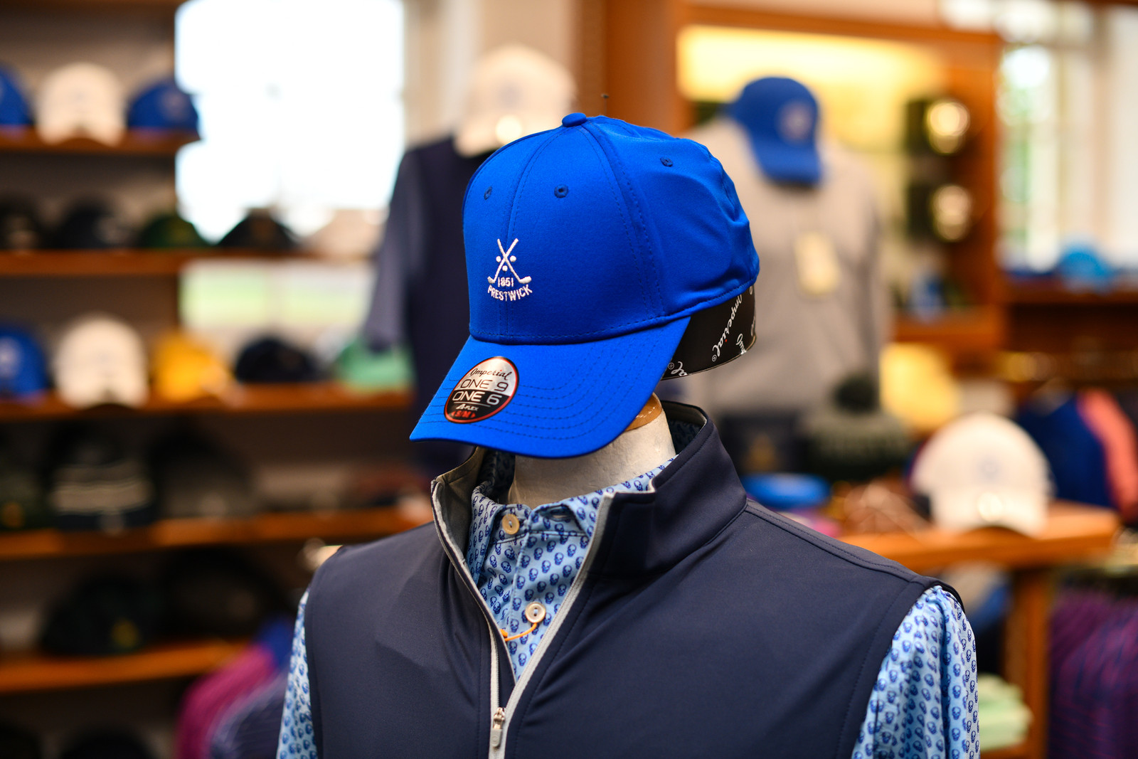Prestwick Imperial Fitted Baseball Cap - Blue