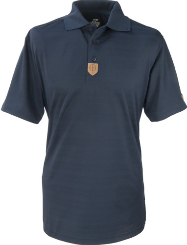 Prestwick Collection Ahead Mens Polo Plain in Blue
