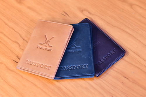 Links and Kings Leather Passport Holder