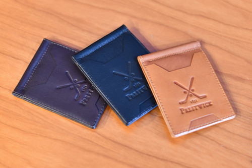 Links and Kings Leather Money Clip