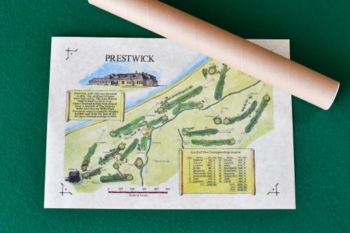 Prestwick Golf Club layout (A3 tubed)