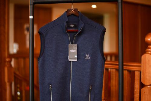 Ivanhoe Assar Vest Full Zip - Navy (40% OFF)
