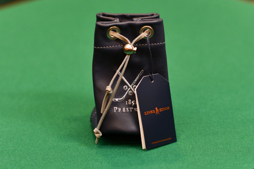 Links and Kings Leather Drawstrings Valuables Pouch