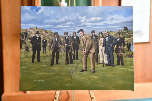 Young Tom Morris  Canvas Art prints by Craig Campbell