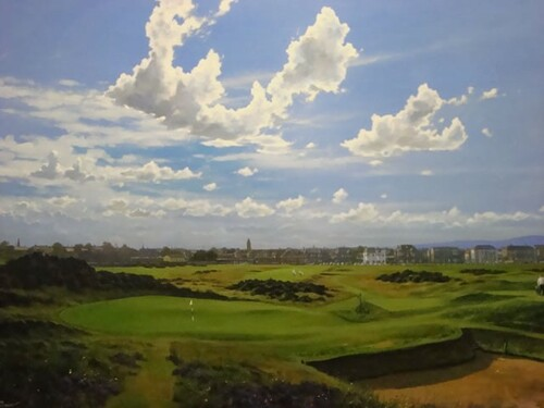 17th Hole, Prestwick Golf Club Limited Edition Print by Craig Campbell (Tubed)