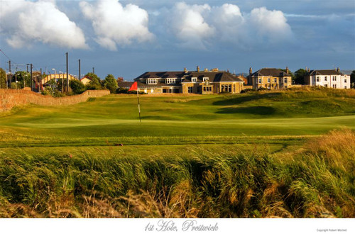 1st hole, Prestwick Golf Club Photograph by Robert Mitchell