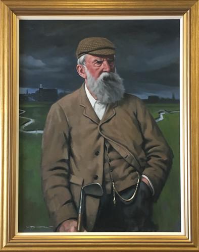 """Old Tom Morris"" original oil painting, at Prestwick Golf Club, Scotland"