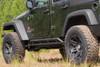 Rugged Ridge RRC Rocker Guards Mounted on Jeep Wrangler JK 4 Door