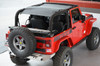 SpiderWebShade SW1 JK-2D Mesh Top for Jeep Wrangler JK 2 Door 2007-2016