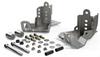 TeraFlex 36-07-01-300 Falcon Series HD Rear Shock Skid Plate Kit for Jeep Wrangler JK 2007-2018