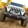 Aries 2082099 TrailChaser Front Bumper with Turn Signal Caps & Grille Guard in Aluminum for Jeep Wrangler JL & Gladiator JT 2018+