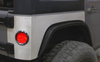 Motobilt MB1125-ST Rear Corner Armor with Round Tail Light Provisions for Jeep Wrangler JK 4 Door 2007-2018
