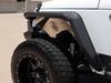 Road Armor 507AFF0B Stealth Front Fender Flares with DRL LED Lights for Jeep Wrangler JK 2007-2018