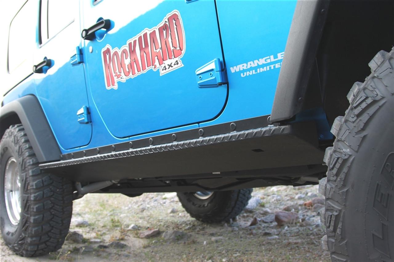 Boat Side Rock Sliders with Tread Plate JK 4 Door