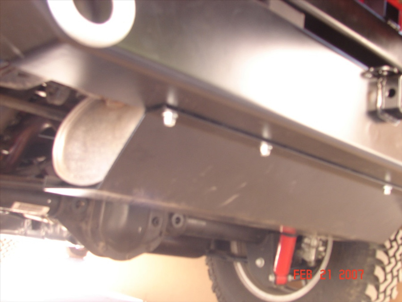 Rock Hard 4x4 Muffler Skid Plate JK