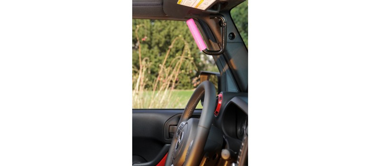 GraBars for JK Front Pair w/ Pink Rubber Grips