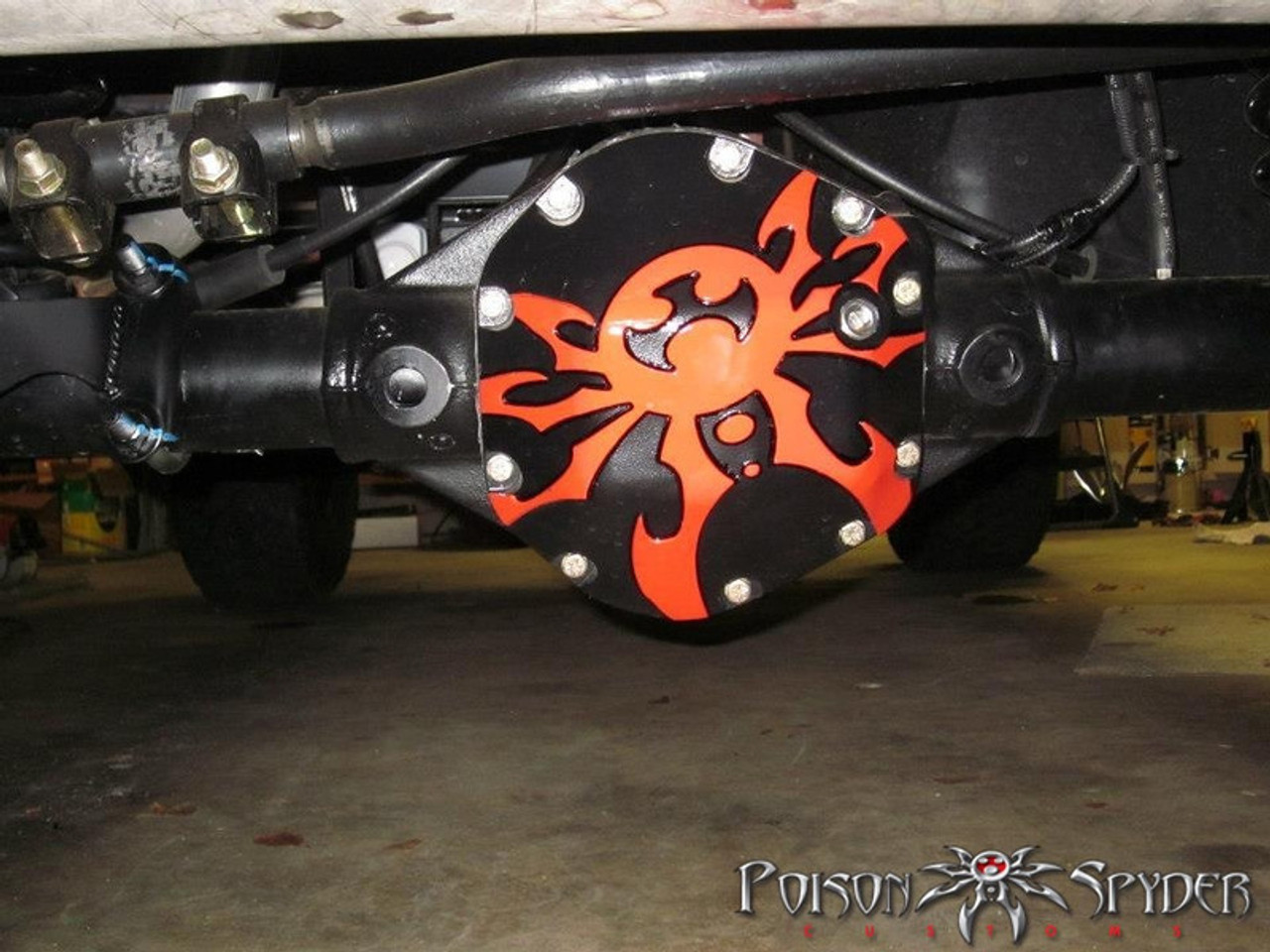 Poison Spyder Dana 30 Bombshell Diff Cover Custom Painted and Mounted