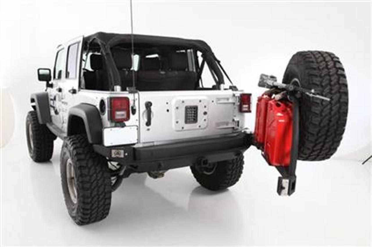 Smittybilt XRC Atlas Rear Bumper with Tire Carrier- Open Position