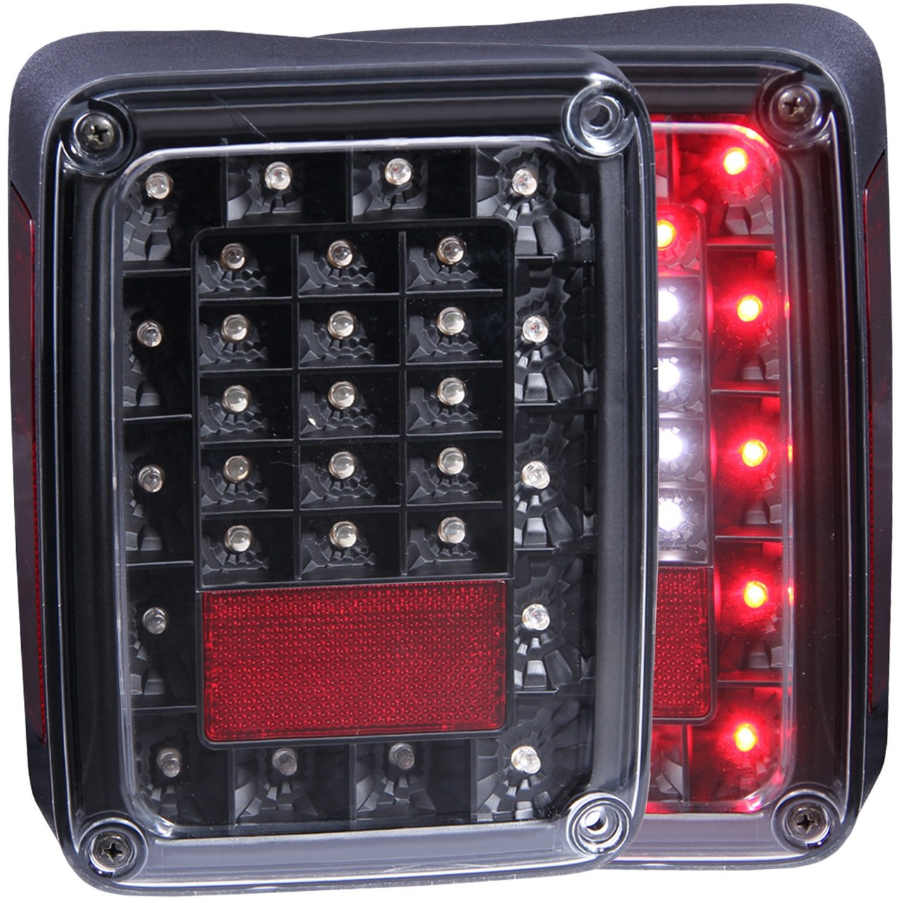 Anzo USA 311212 Black LED Taillights for Jeep Wrangler JK 2007-2016
