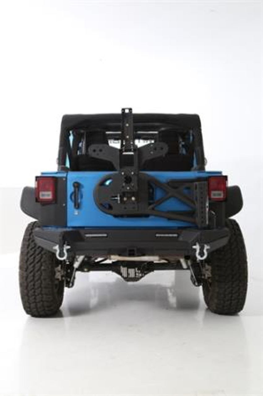 Smittybilt Gen 2 Rear Bumper Mounted on Jeep JK
