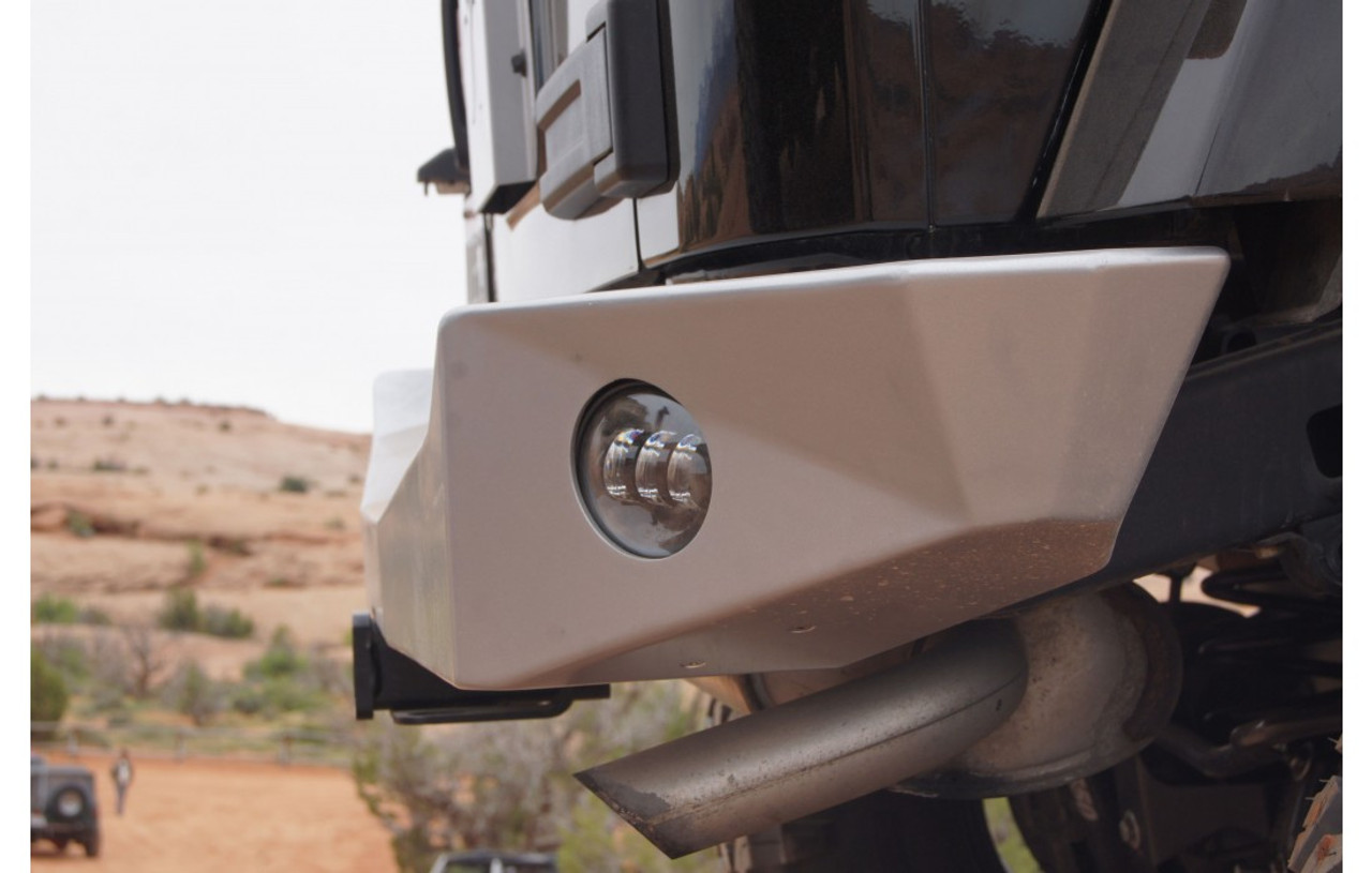 Side View of Nemesis Industries Odyssey Rear Bumper with BackUp Light Provisions for Wrangler JK