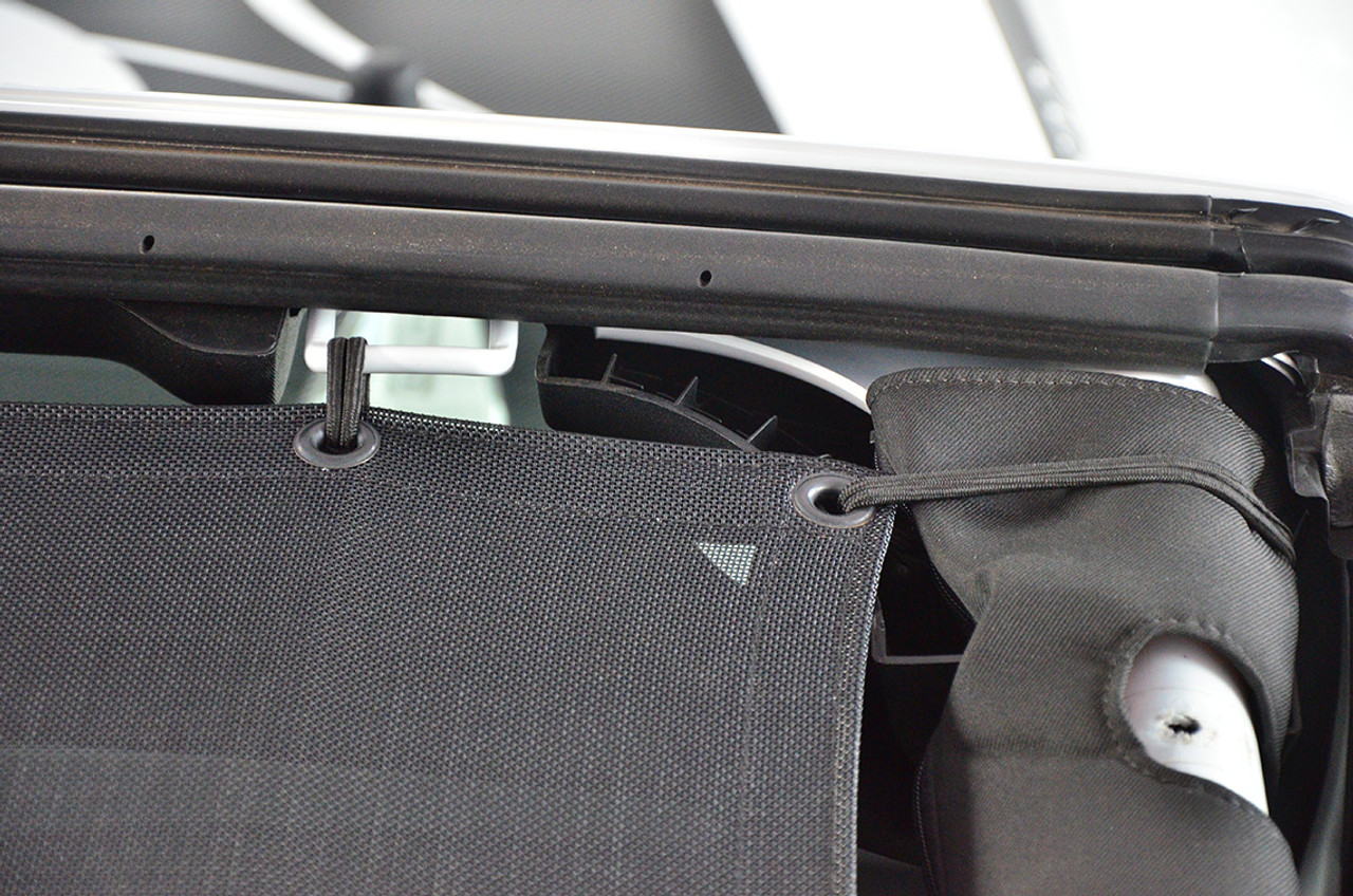 SpiderWebShade Close Up of Mesh Top for JK 4 Door