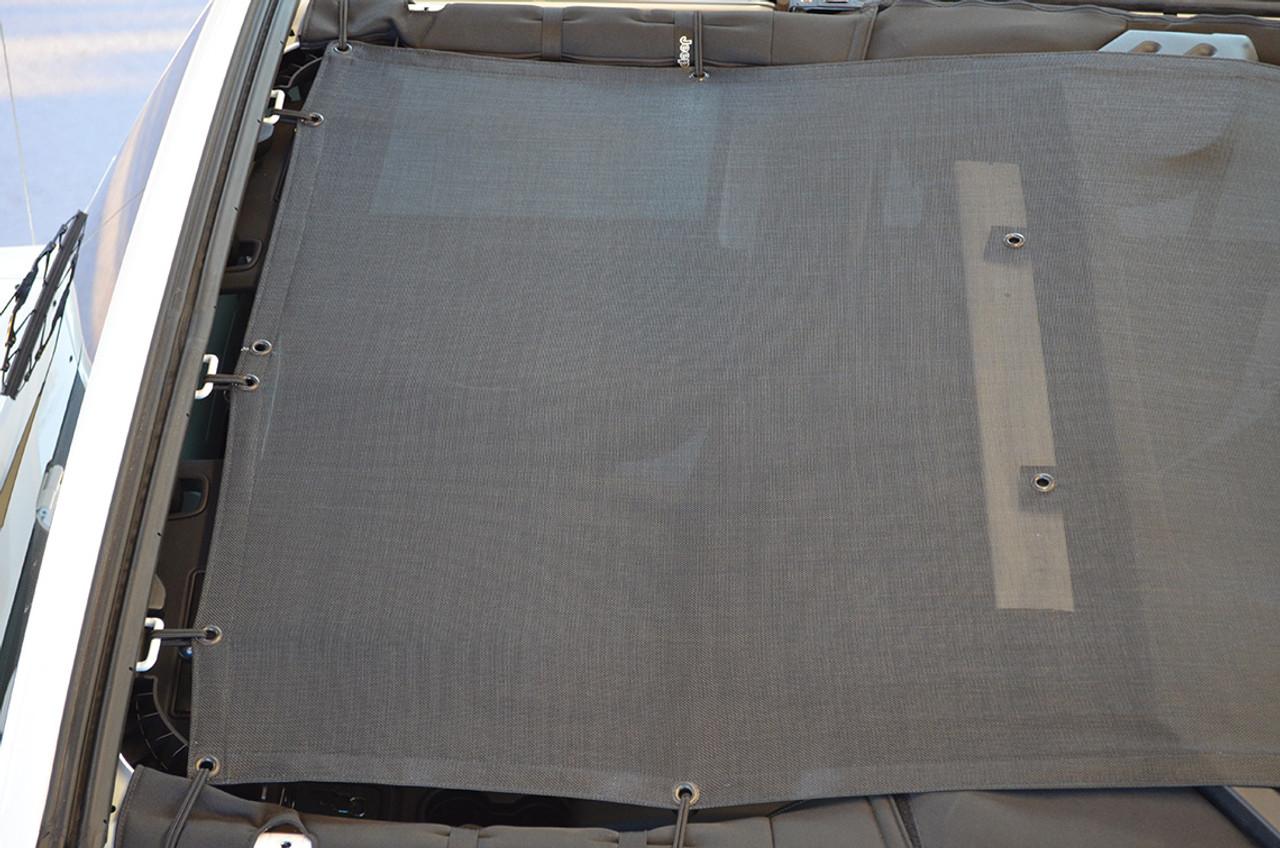 SpiderWebShade Arial View of Mesh Top for Jeep Wrangler JK 4 door