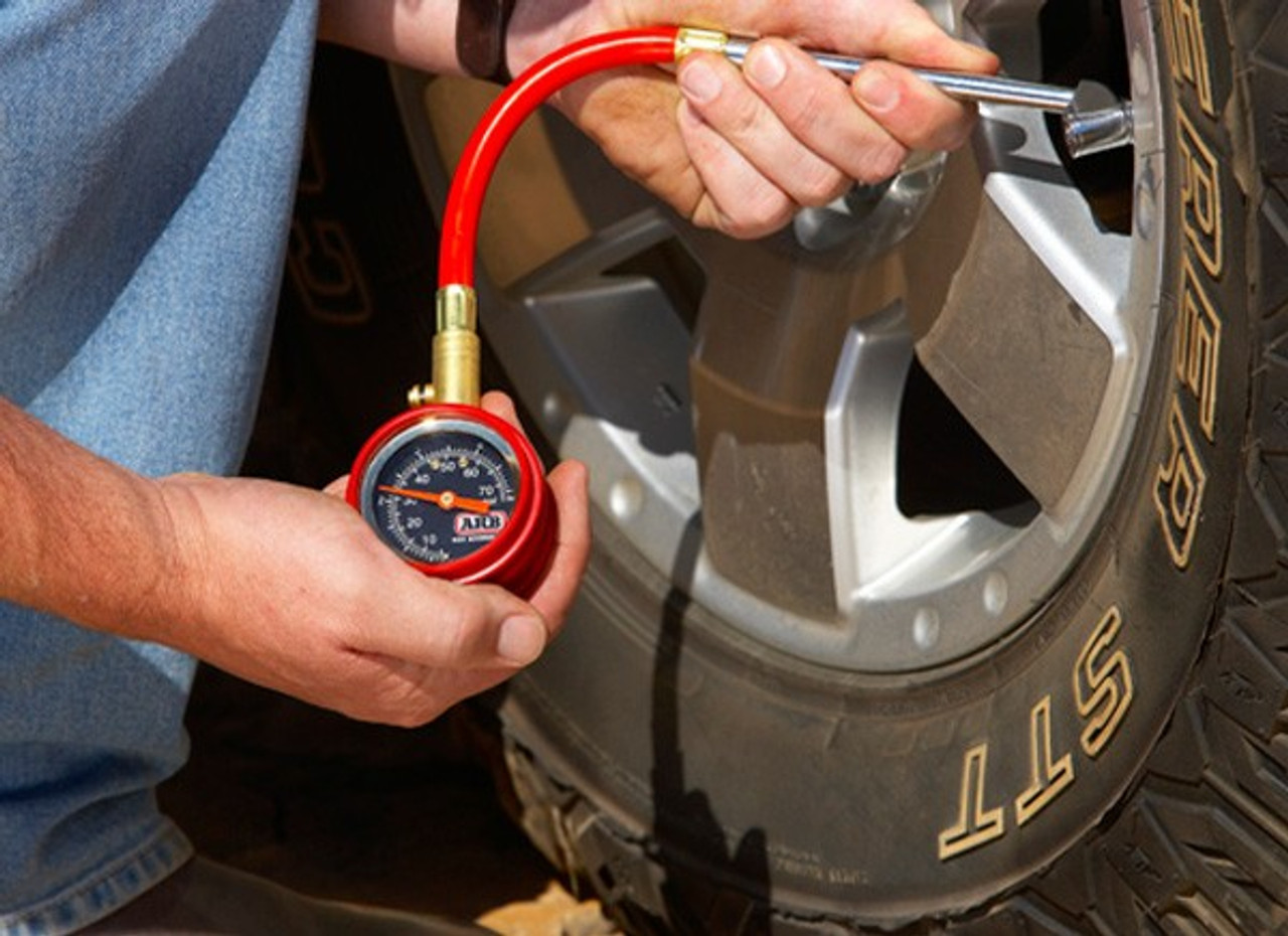 ARM Small Dial Tire Gauge in Use