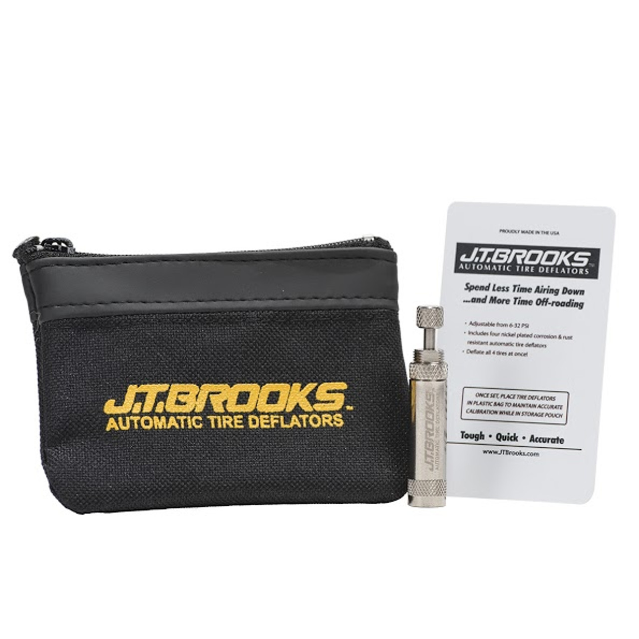 JT Brooks Single Automatic Tire Deflator and Carrying Case