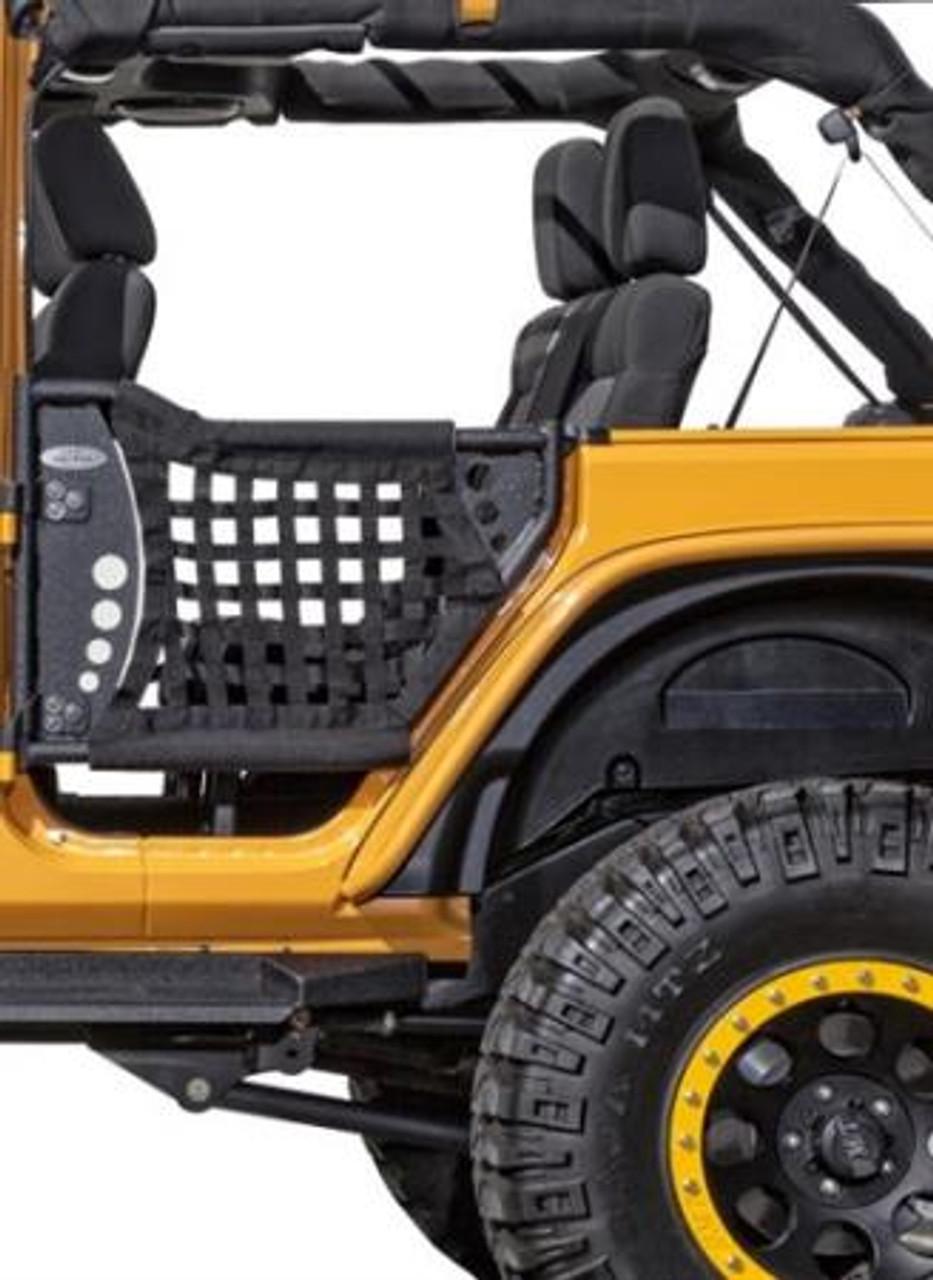 Body Armor 4x4 BA-JK-6140 Rear Gen III Trail Doors with Nylon Webbing for Jeep Wrangler JK 4 Door Unlimited 2007-2016